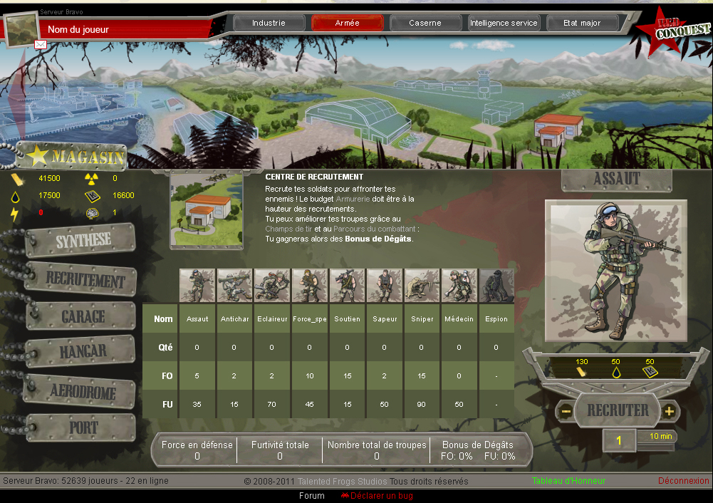 jeu red conquest guerre combat