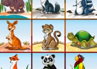 jeu puzzle animaux jungle