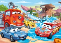 Flash McQueen et Sally dans Cars