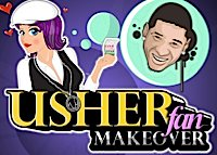 Maquillage d'une fan d'Usher